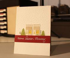 Geburtstagskarte im weihnachtenlichen Look :) Papertrey Ink Petite Places