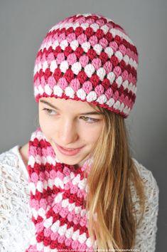 Mod Hat Crochet Pattern (3 sizes: toddler, child, teen/adult). $4.00, via Etsy.
