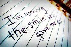someone special always can make me smile