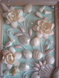 Sea Crafts, Rock Crafts, Diy Arts And Crafts, Sea Glass Crafts, Creative Crafts, Seashell Painting, Seashell Art, Seashell Crafts, Seashell Frame