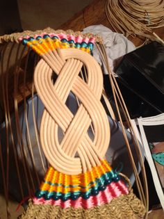 Start of Josephine knot basket...I love the beads on this!