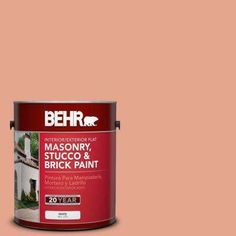 1 gal. #M180-4 Priceless Coral Flat Interior/Exterior Masonry, Stucco and Brick Paint