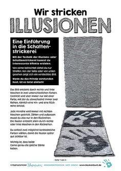 Wir stricken ILLUSIONEN pattern by Raphaela Blumenbunt