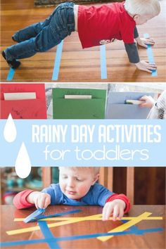 Indoor rainy day activities for toddlers to do Rainy Day Fun, Things To Do With Kids On A Rainy Day, Indoor Play For Toddlers, Indoor Toddler Activities, Toddler Play, Toddler Preschool, Infant Activities, Toddler Crafts, Skillet