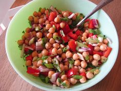 Chick Pea & Red Pepper Salad