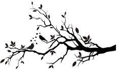 Decorative Birds on a Branch Silhouette  Vinyl by VillageVinePress, $29.95