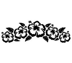 hibiscus hawaii strip sticker Hawaiian Flower Drawing, Hawaiian Flowers, Hibiscus Flowers, Stencil Designs, Mug Designs, Silouette Cameo Projects, Tribal Flower Tattoos, Ohana Tattoo, Cancer Ribbon Tattoos