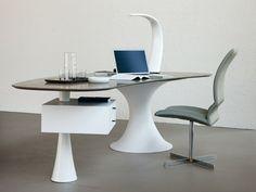 Cristalplant® writing desk NEVADA by Cattelan Italia | Design Alberto Danese