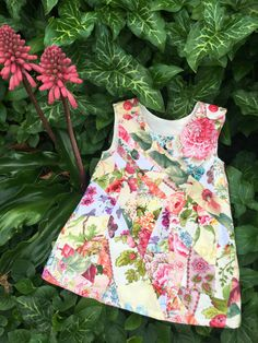 Aline pinafore flower girl dress toddler party by TwigandPosy