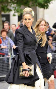 Sara Jessica Parker en memorial por Alexander McQueen #Mourning fashion