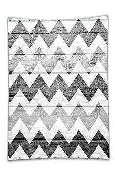 Interestlee Satin drill Tablecloth?Chevron Geometric Decorations Chevron Pattern on Wood Background Design Accessories Black Grey WhiteSmoke Dining Room Kitchen Rectangular Table Cover Home Decor
