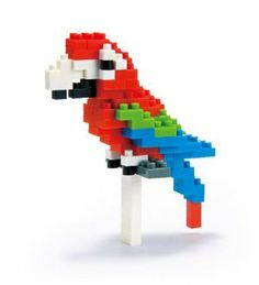 Nanoblock Red and Green Macau by Nanoblock. $9.46. 100+ miniature building blocks; nanoblock Macau - from the ?Miniature Collection?; Full assembly instructions; Challenging three-dimensional puzzle with amazingly small sized building blocks; Join in the Japanese 3D mini modelling block craze sweeping the world. From the Manufacturer                Create 3D works of animal art with Nano Blocks! These micro-sized building blocks will enable you to execute even the...