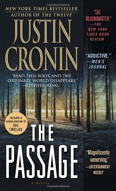 The Passage: A Novel by Justin Cronin, http://www.amazon.com/dp/0345528174/ref=cm_sw_r_pi_dp_BsG6qb1X5YXWS  Complicated, sometimes laborious read, this vampire series is interesting.  It's the anti-vampire book in a society where vampires are supposedly sexy and intriguing.