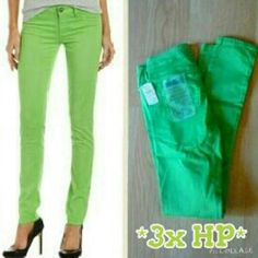 *HP 3x* Fade to Blue Skinny Green Jeans These are brand new. They are Classic Skinny in Green Parrot. Made of 98% cotton 2% spandex. Tag size 24. Fade to Blue Pants