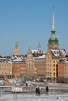 A wintery Stockholm by Sven Rudolf Jan, via Flickr