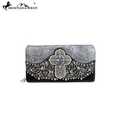 Montana West Wallet Womens Spiritual Collection Secretary Style Wallet Grey #MontanaWest #secretarystyle