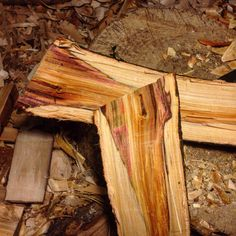 Amazing colours inside this piece of blackthorn! It's a bit cracked and rotten at the end but I reckon I can get something out of it and still keep most of the colour. Carpentry Tools, Woodworking Tools, Cabinet Table Saw, Easy Wood Projects, Colours, Texture, Canning, Amazing, Crafts