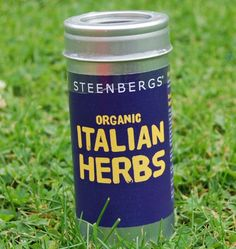 Steenbergs Organic Italian Herb Blend - Premium Tin. A classic herb blend created and blended at the Steenbergs factory in north Yorkshire, use in pasta sauces, pizza sauces or in casseroles, soups, quiches - delicious in most savoury dishes.
