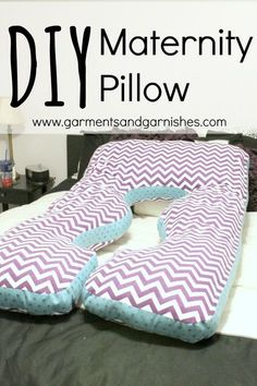 DIY Maternity Pillow - easy sewing project that will save you lots of pains, and it's easy on the wallet!
