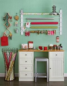 a whole wall of pegboard