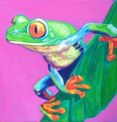 Colorful frog by Nancy Stark