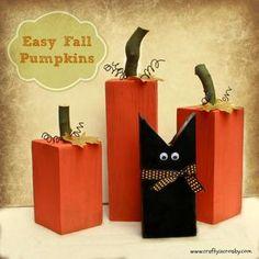 Fun Fall Pumpkins and a Sweet Black Cat - Easy DIY by Crafty In Crosby