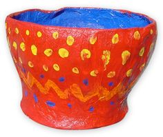 Paper Mache bowl from balloon. Art Projects for Kids