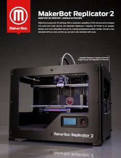 MakerBot Announces the Replicator 2 Desktop 3D Printer & A Manhattan Retail Store