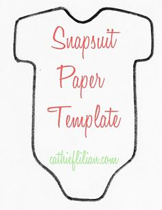 Cathie and Steve {Make. Bake. Celebrate!}: Snapsuit Decorating Baby Shower: Handmade Invitations