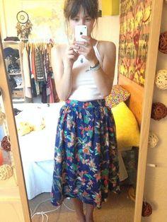 Picnic Blanket Skirt by Ruth (free tutorial here: http://www.tillyandthebuttons.com/p/picnic-blanket-skirt.html)