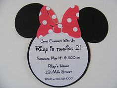 Isabelle would love to have a Minnie Mouse party, these are so cute!