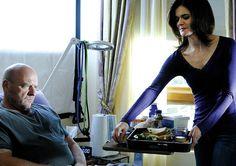 Breaking Bad Season 4 Studio Photos  Hank Schrader (Dean Norris) and Marie Schrader (Betsy Brandt)