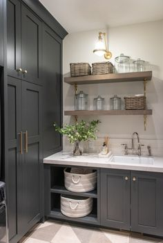 Normandy - Designs by Craig Veenker Mudroom Laundry Room, Laundry Room Organization, Garage Laundry, Laundry Room Design, Kitchen Design, Boot Room Utility, Utility Room Designs, Country House Interior, Corner House