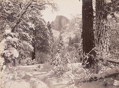 GEORGE FISKE  1835 - 1918 Half Dome on Christmas Morning. ca. 1880s