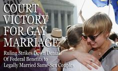 Supreme Court Rules that DOMA is unconstitutional as a deprivation of the equal liberty of persons that is protected by the Fifth Amendment. : news Federal Constitution, Fifth Amendment, Christian Magazines, News Us, Supreme Court Justices, Attorney General, Happy People, Denial, Journalism