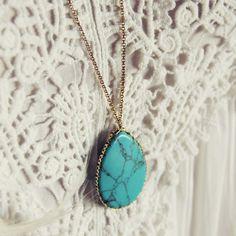 Solstice Necklace... Gorgeous turquoise pendant!