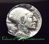 Hobo Buffalo Nickel Coin with Ancient Alien Artwork !!!