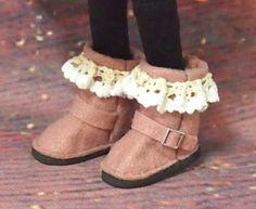 21~23cmドール用|100均材料+αのブーツ: 77-16,Soragaoka Doll Shoes, Ugg Boots, Uggs, Wedges, Dolls, Fashion, Handicraft, Baby Dolls, Moda