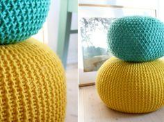 un pouf en tricot! - par initialesgg