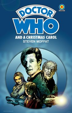 """BEST GRAPHIC ARTIST ON ETSY!  Doctor Who - A Christmas Carol - 18 x 12"""" Target Paperback Pastiche Digital Print. $8.99, via Etsy."""