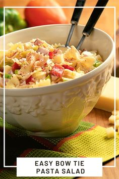 Using cheddar cheese, scallions and bow tie pasta, this pasta salad is delicious and easy to make in under 30 minutes. Summer Pasta Recipes, Pasta Salad Recipes, Side Dish Recipes, Side Dishes, Cheddar Cheese, Finger Foods, Potato Salad, Appetizers, Bow