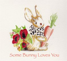 Some Bunny Loves You would make the perfect card for the spring season!  Instant download or request a custom card to be sent right to your door!