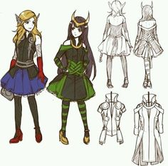 Thor + Loki female