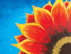 Red Sunflower will be my first painting party picture!