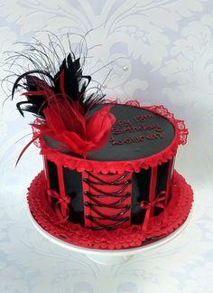 Vanilla Lily Cake Design: burlesque ....