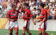 Sávio, Romário e Edmundo - Flamengo