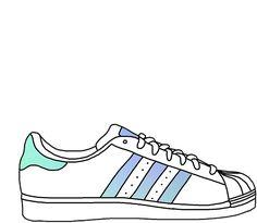 5181b721c97 Colourful adidas shoe Tumblr Png
