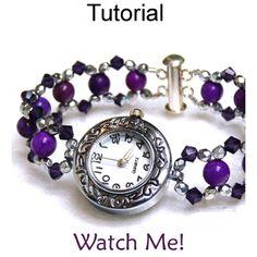 Beaded Watch Bracelet PDF Beading Pattern