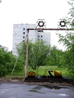 Pripyat, Ukraine - the accident happened at the end of April, when the city was getting ready for a huge May Day celebration...the rides were never ridden.