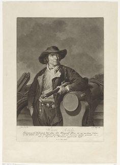 Charles Howard Hodges   Portret van Wiert Adels, Charles Howard Hodges, Willem Alexander Keel, 1794 - 1796   Wiert Adels, stuurman op het kofschip 'De Bloeyende Blom'. Hij draagt zeemanskleding en houdt een geweer in de hand. Zijn arm rust op een stuk geschut. De Bloeyende Blom werd in augustus 1794 door de Fransen gekaapt. Adels heroverde het schip en bracht het op 5 augustus binnen te Hellevoetsluis.